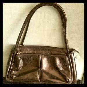 Mona Black Leather Shoulder Bag
